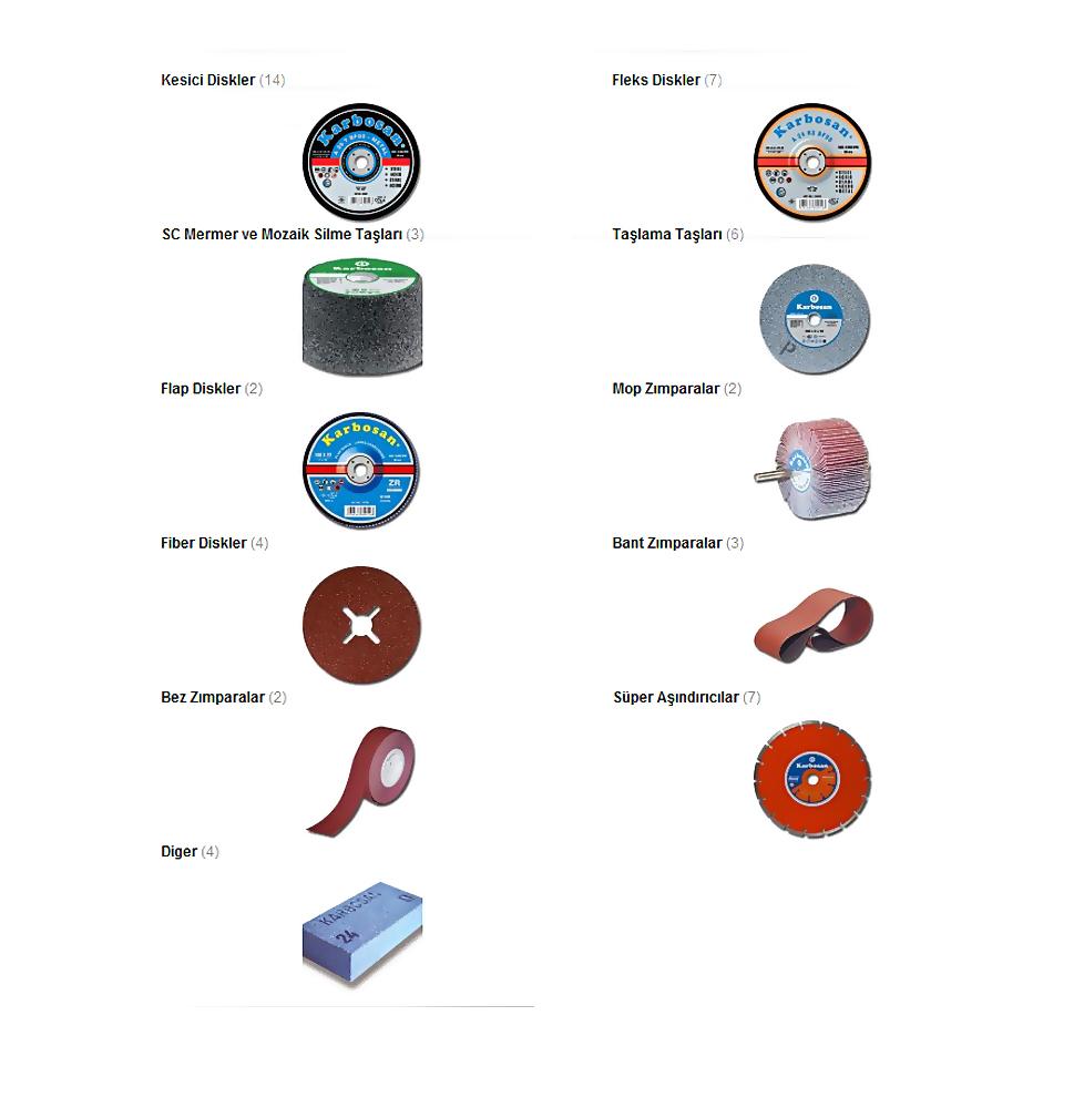 Tüm karbosan ürünleri